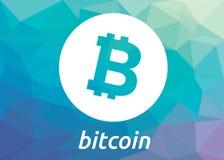 Logo för Bitcoin blockchaincriptocurrency Arkivfoton