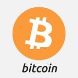 Logo för Bitcoin blockchaincriptocurrency Arkivbild