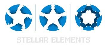 Logo för blå stjärna Arkivbild