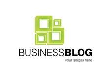 logo för blogaffärsdesign Royaltyfri Fotografi