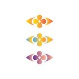 Logo för blommadesignabstrakt begrepp Arkivbild
