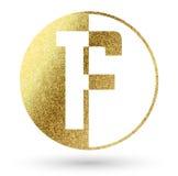Logo för bokstav F Fotografering för Bildbyråer