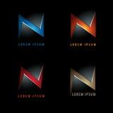 Logo för bokstav N i negation Royaltyfria Foton
