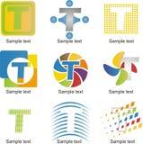 Logo för bokstav T Arkivbild