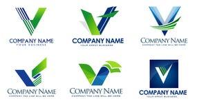 Logo för bokstav V vektor illustrationer