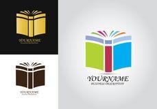 Logo för bokutbildningsvektor royaltyfri illustrationer