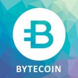 Logo för Bytecoin BCN criptocurrencyvektor Arkivbild