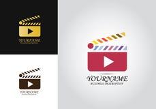Logo för Clapperlekdesign vektor illustrationer