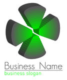 logo för design 3d Royaltyfria Bilder