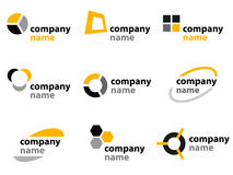 logo för designelementsymboler Royaltyfri Fotografi