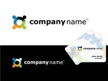 logo för diagram för affärskort Royaltyfri Bild