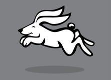 Logo för djur för kaninteckenhare Royaltyfri Illustrationer