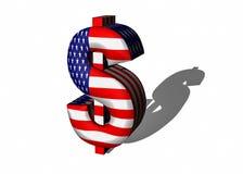 logo för dollar 3d Arkivfoto