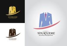 Logo för dräktomslagsmän vektor illustrationer