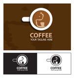 Logo för drink för elefant för kaffekopp Stock Illustrationer