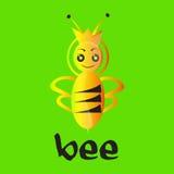Logo för drottningbi Arkivfoton