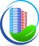 Logo för Eco naturbyggnad Royaltyfria Foton