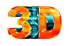 logo för exponeringsglas 3d Arkivbild