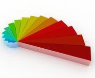 logo för färg 3d vektor illustrationer