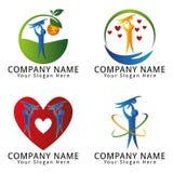 Logo för förälderbarnavårdbegrepp EPS Royaltyfri Bild