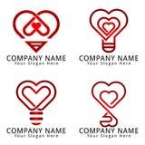 Logo för förälskelseidébegrepp Royaltyfri Bild