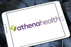 Logo för företag för Athenahealth sjukvårdteknologi royaltyfria foton