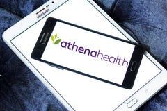 Logo för företag för Athenahealth sjukvårdteknologi arkivfoton