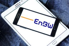 Logo för företag EnBW för elektriska hjälpmedel arkivbild