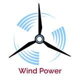 Logo för företag för turbin för maktdanandevind Arkivbild