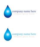 Logo för företag för vattenliten droppe Arkivbilder