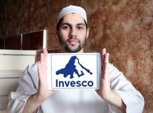 Logo för företag för Invesco investeringledning Fotografering för Bildbyråer