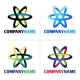 logo för företagselementsymbol stock illustrationer