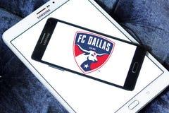Logo för FC Dallas Soccer Club fotografering för bildbyråer