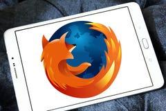 Logo för Firefox rengöringsdukwebbläsare arkivfoton