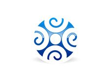 Logo för folkanslutningsteamwork Arkivbild