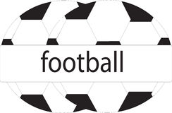 Logo för fotbollbollar Royaltyfria Foton