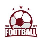 Logo för fotbollturnering eller mästerskap stock illustrationer