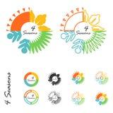 Logo för fyra säsonger Fotografering för Bildbyråer