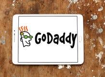 Logo för GoDaddy internetföretag arkivfoton