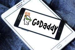 Logo för GoDaddy internetföretag royaltyfri bild