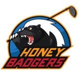 Logo för golf för honungbäverskinn vektor illustrationer