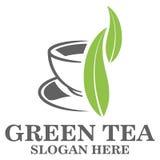 Logo för grönt te Arkivfoto