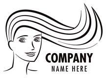 Logo för hårsalong Arkivfoton