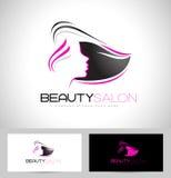 Logo för hårsalong stock illustrationer