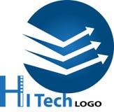 Logo för hög tech royaltyfri illustrationer