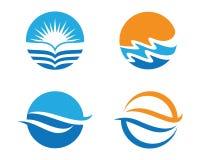 Logo för havstrandvåg Royaltyfri Fotografi