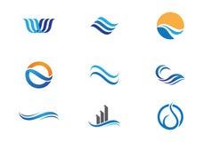 Logo för havstrandvåg Arkivfoto
