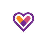 Logo för hjärtasymbolsvektor royaltyfri illustrationer