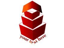 logo för hus 3d Arkivbilder