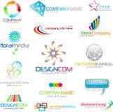 logo för identitet för affärsföretag Royaltyfria Bilder